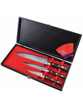 Zestaw prezentowy IV: Zestaw 3 noży Tojiro DP3: F-800 + F-802 + F-808