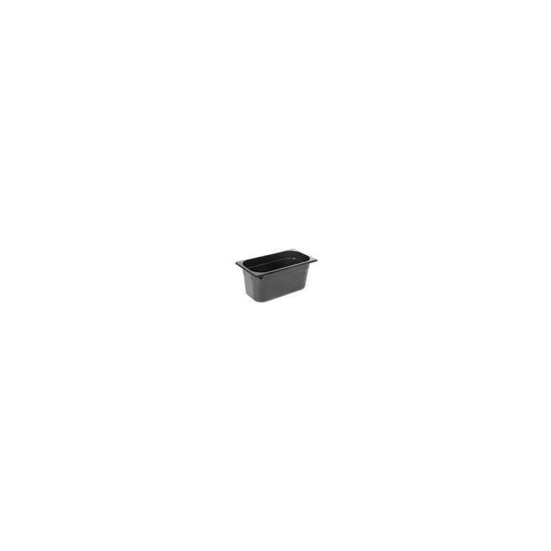 Pojemik GN 1/3 z czarnego poliwęglanu - 6,5cm