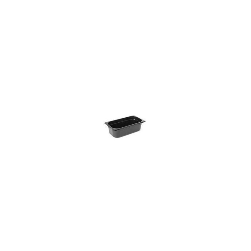 Pojemnik GN 1/4 z czarnego poliwęglanu - 6,5cm