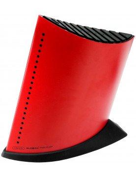 Blok na 9 noży w kształcie żaglowca – czerwony | Global