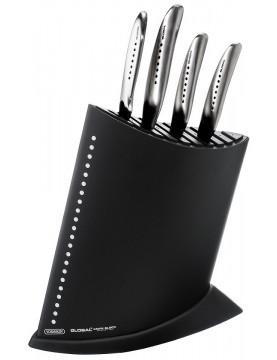 Komplet 4 noży Global SAI w czarnym bloku